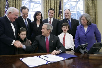 President Bush signs Lifespan Respite Care Act
